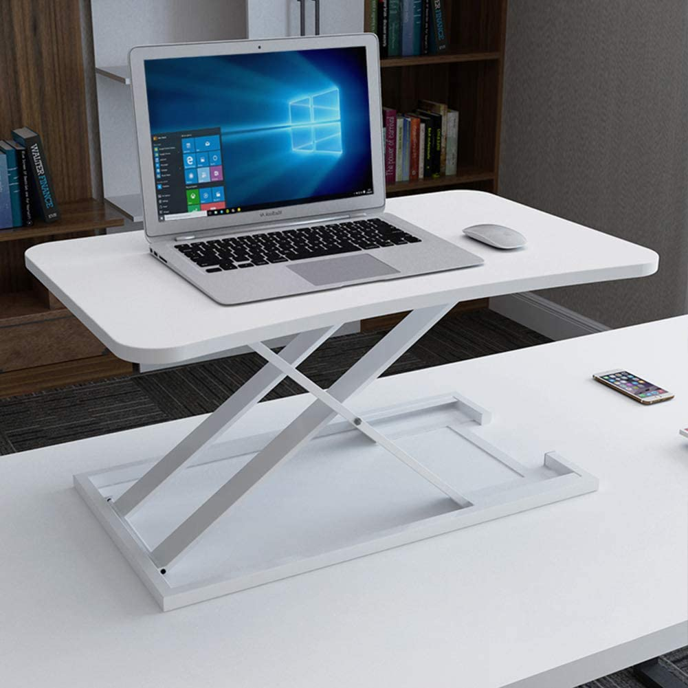 Computer Standing Desk Height Adjustable, Ergonomic Sit to Stand Converter Work Station Easy to Adjust for Home Office use-B 73x47cm(29x19inch)