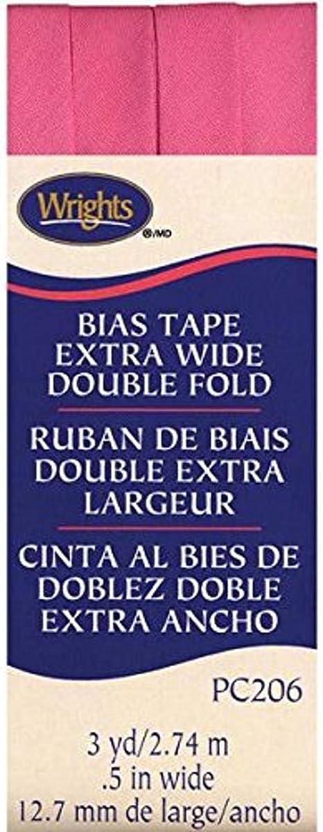 Wrights NOM042118 Double Fold Bias Tape 1//2 3 Yards Plum