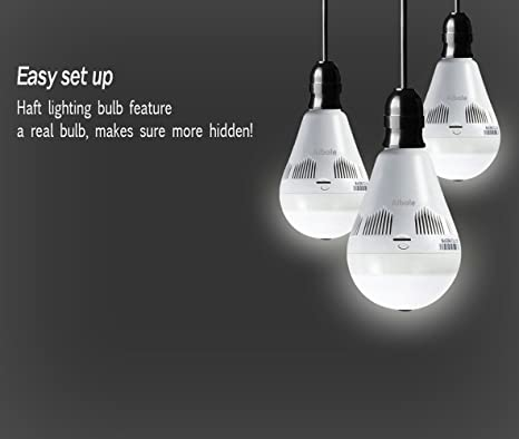 Aibole 360 Light Bulb Camera 2018 New Home Security WiFi Camera For Baby  Monitor With Camera And Audio     Amazon.com