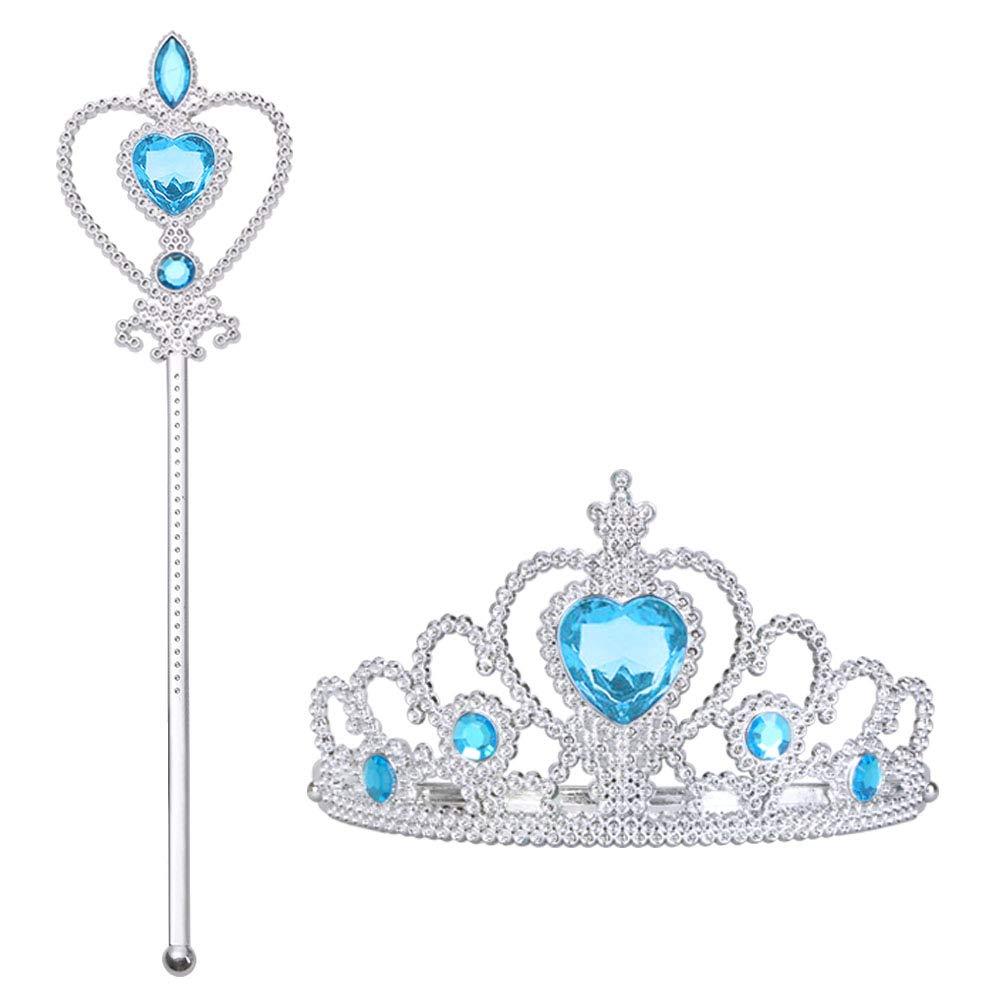 Tiara Vicloon Reina de las Nieves Accesorios de Princesa del Hielo para ni/ña Varita m/ágica