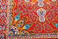 Oriental Traditional Isfahan Persian Light Blue Navy White Orange Yellow Crimson Red Area Rugs Rug New City Collection 8023