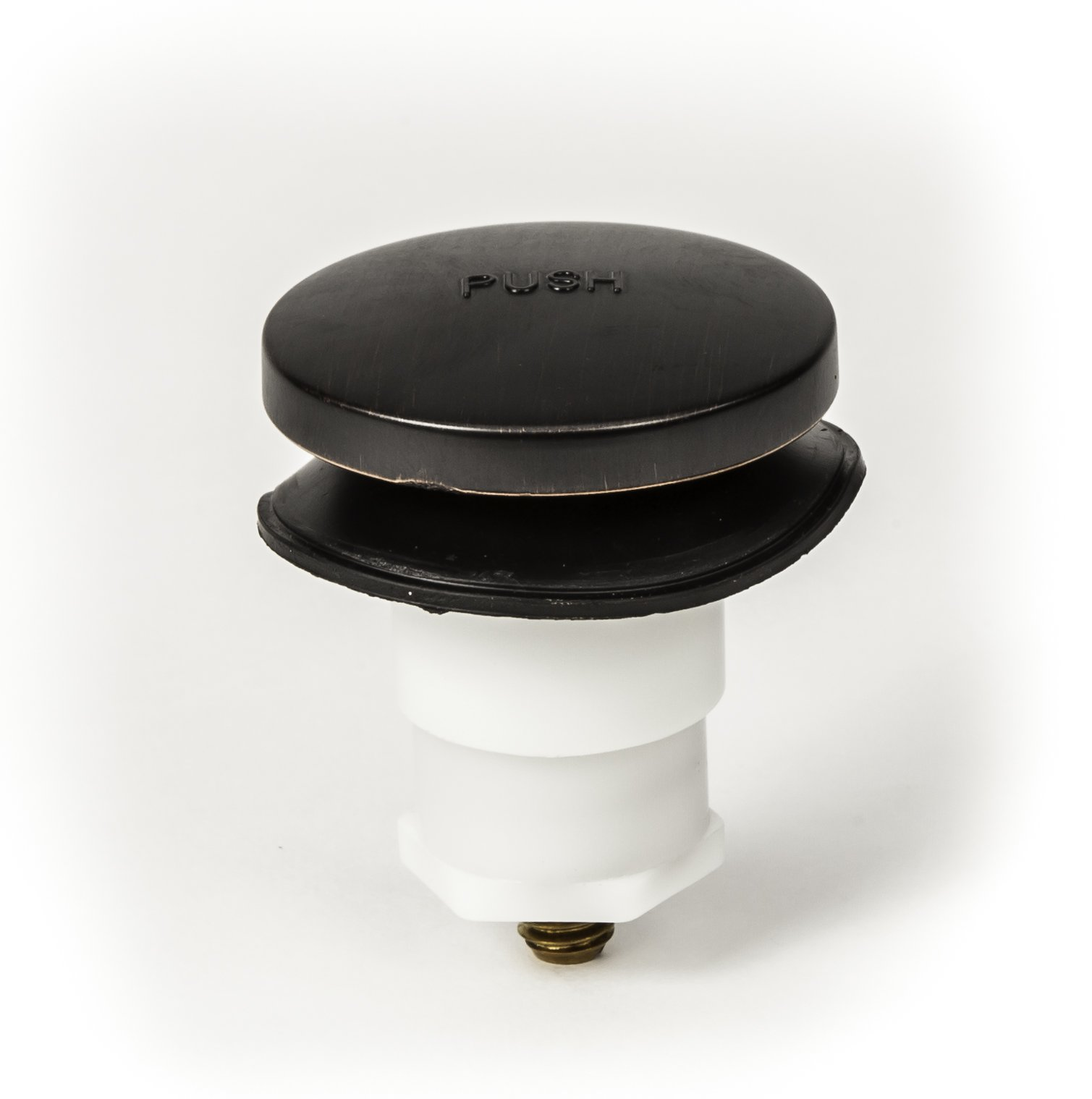 PF WaterWorks Toe TouchBathtub/Bath Tub Drain Trim Kit (Drain + Stopper + Single/One (1) Hole Face Plate) - Coarse 11.5 TPI - FREE Hair Catcher; Oil Rubbed Bronze; PF0970-ORB-TT-C by PF WaterWorks (Image #2)