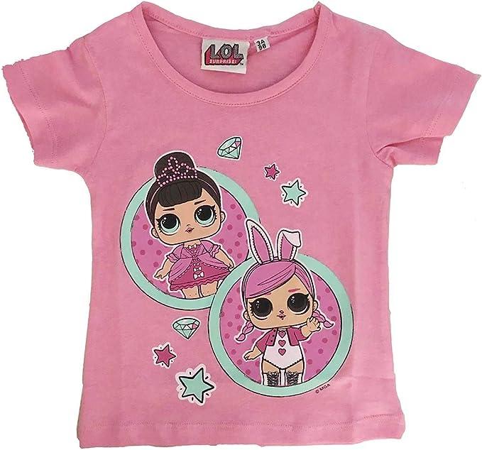 LOL Sorprise tee - Camiseta de Manga Corta para niña, Color Rosa: Amazon.es: Ropa y accesorios