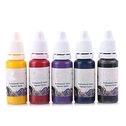 Máquinas Permanente TatuajeProfesional Colores De 5 Tinta Para LR5j4A3