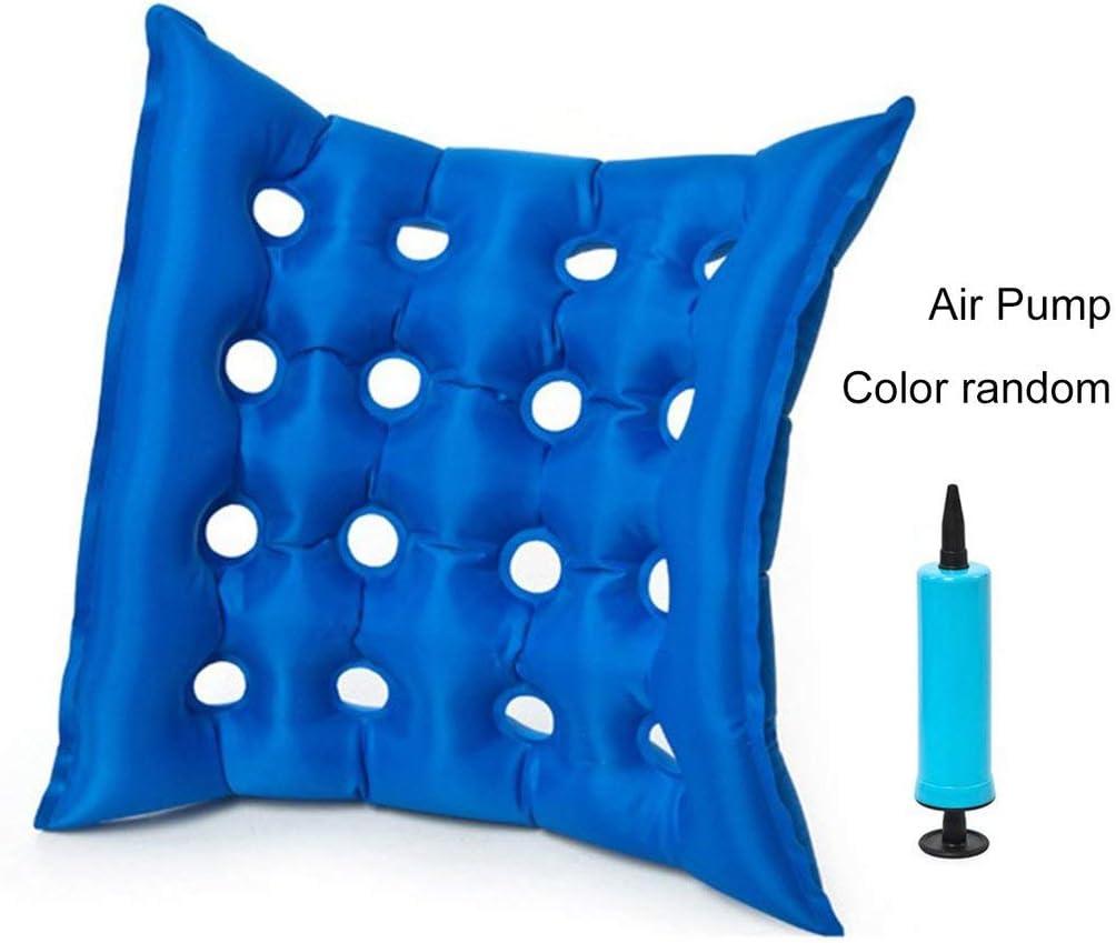 Heaviesk Cojín de Aire médico Cuadrado PVC Inflable de Aire para Uso doméstico Decolorador antiescaras Cojín de Silla Cojín de Aire médico Silla de Ruedas