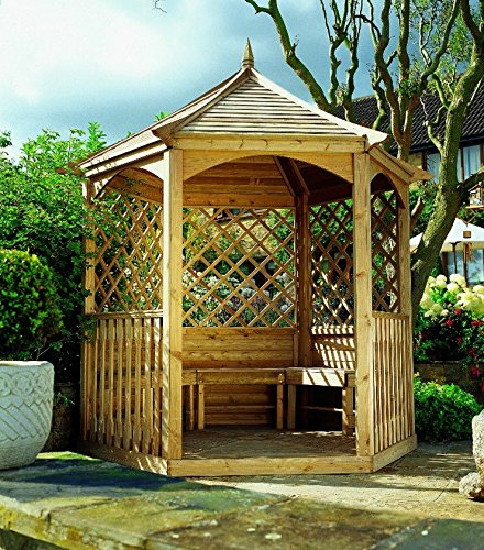 Kiosque Ravel hexagonal en bois moyen: Amazon.fr: Jardin