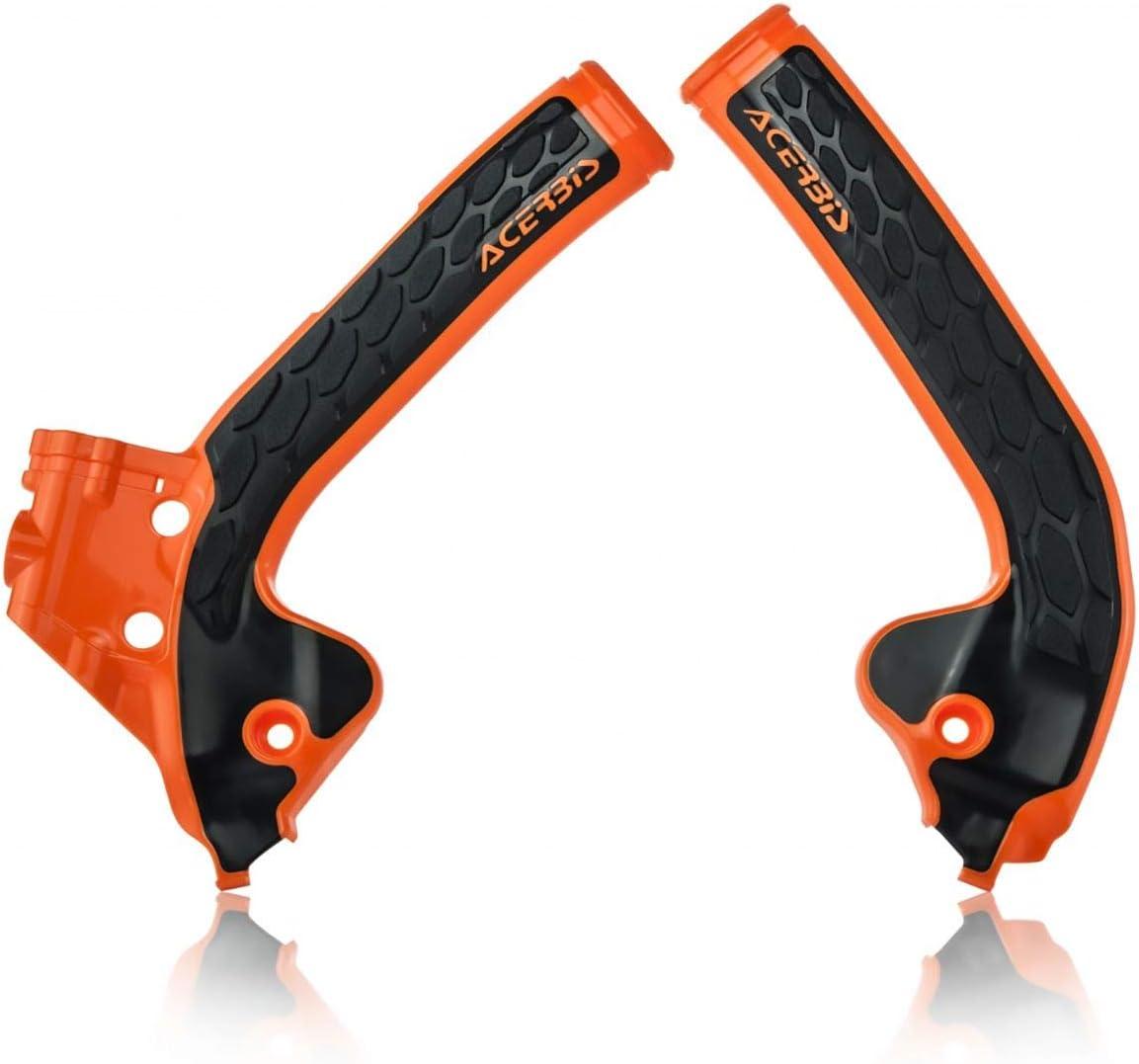 Acerbis X-Grip Frame Guards Black//16 KTM Orange for KTM 450 EXC-F 2017-2018
