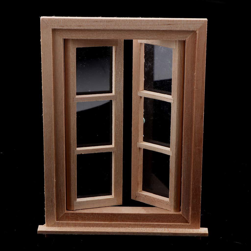 Kesoto Accessoir De Maison De Poupées Fenêtres Miniatures Cadre De