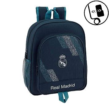 Safta- Mochila Junior Adaptable a Carro Real Madrid, (611834640): Amazon.es: Juguetes y juegos