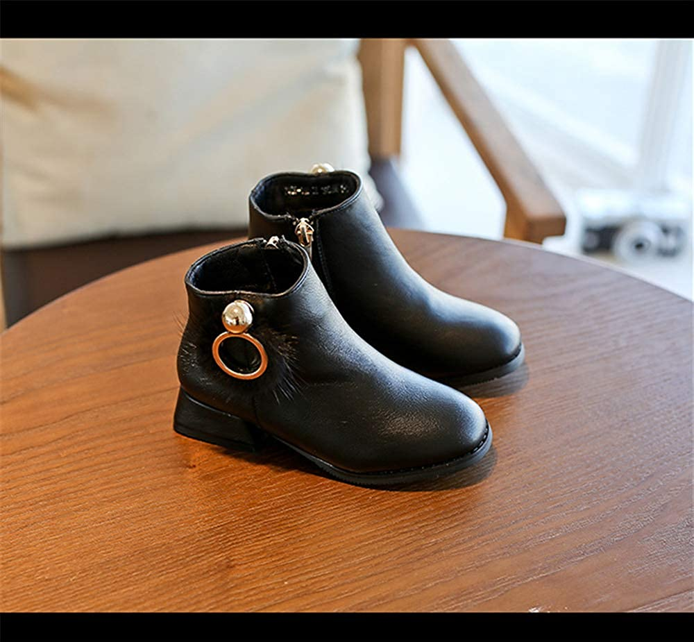 coollight Boys Girls Classic Waterproof Leather Outdoor Strap Winter Boots Chelsea Boots