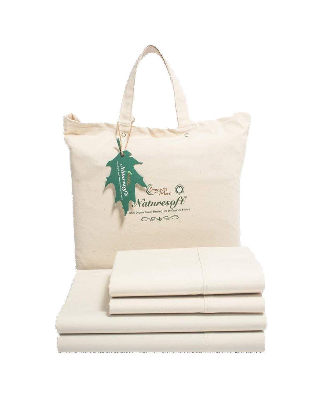 Natural Naturesoft Organic Cotton 230 TC Percale Sheet Sets Twin