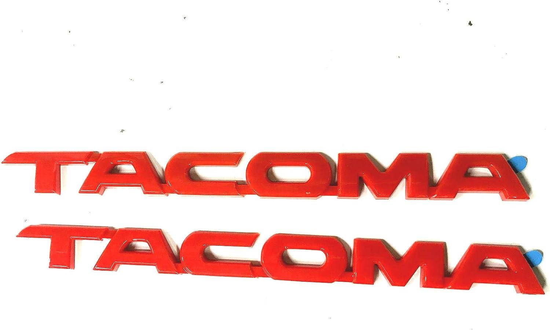5 pcs Toyota Tacoma Tag MATTE Black Door Fender Emblem Decal Badge Nameplate