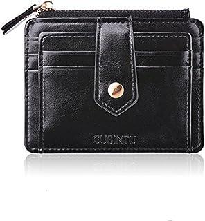 Porta Carte di Credito Portamonete Tasche Pelle, RFID/NFC Blocco Portafoglio- Porta moneta Coin Purse Wallet Classsico e Slim