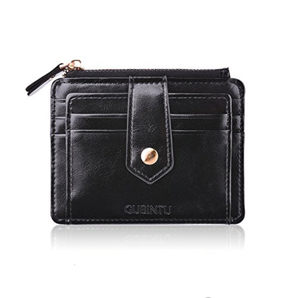 Porta Carte di Credito Portamonete Tasche Pelle, Nero RFID/NFC Blocco Portafoglio- Porta moneta Coin Purse Wallet Classsico e Slim UTips