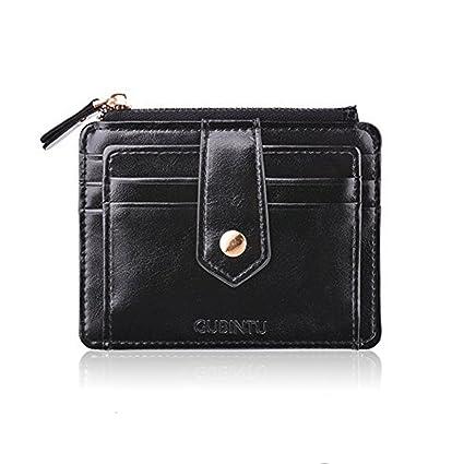 codice promozionale cd534 07023 Porta Carte di Credito Portamonete Tasche Pelle, Nero RFID/NFC Blocco  Portafoglio- Porta moneta Coin Purse Wallet Classsico e Slim