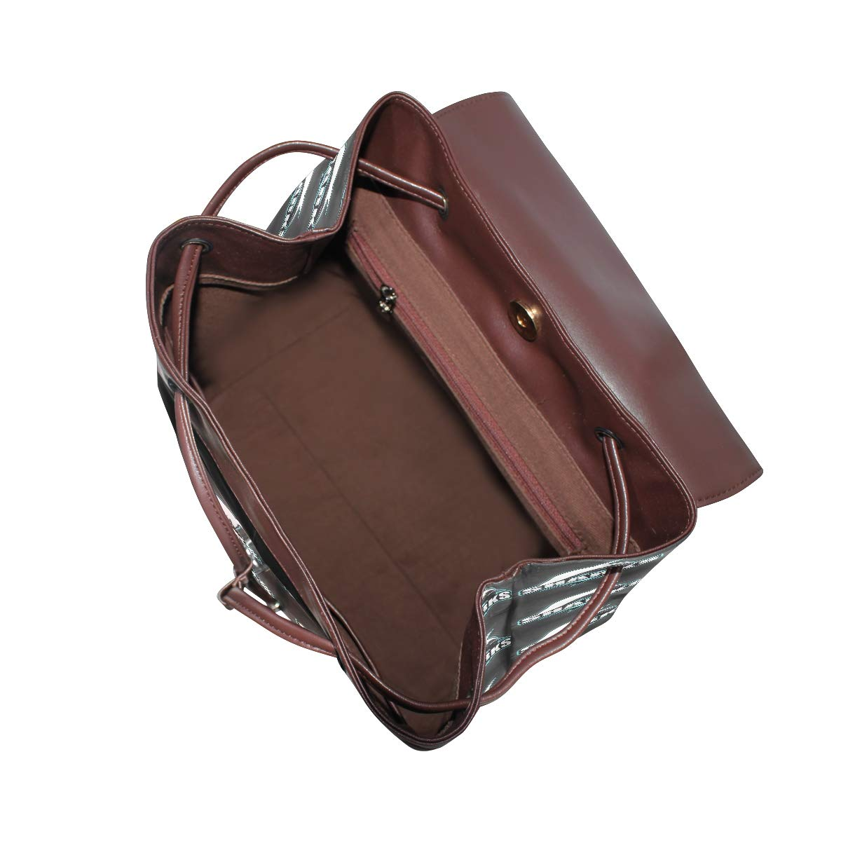 Leather fashion Shark Logo For Sport Team backpack For Work//Travel//Leisure//school bag