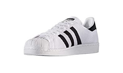 fe41abf40a534 adidas Originals Mens Superstar Knit Shell Toe Trainers - 7.5 US White,  Black