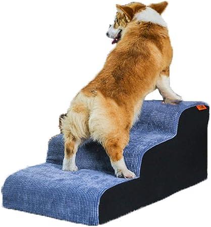 Escalera para Mascotas de 3 Pasos de Pana para Gatos/Perros, rampa de Escalera Antideslizante para Mascotas pequeñas y Medianas, Azul - Soporte 75 kg: Amazon.es: Hogar
