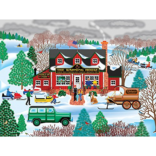 Bits and Pieces - 300 Large Piece Jigsaw Puzzle for Adults - The Warming House - 300 pc Americana Jigsaw by Artist Mark Frost