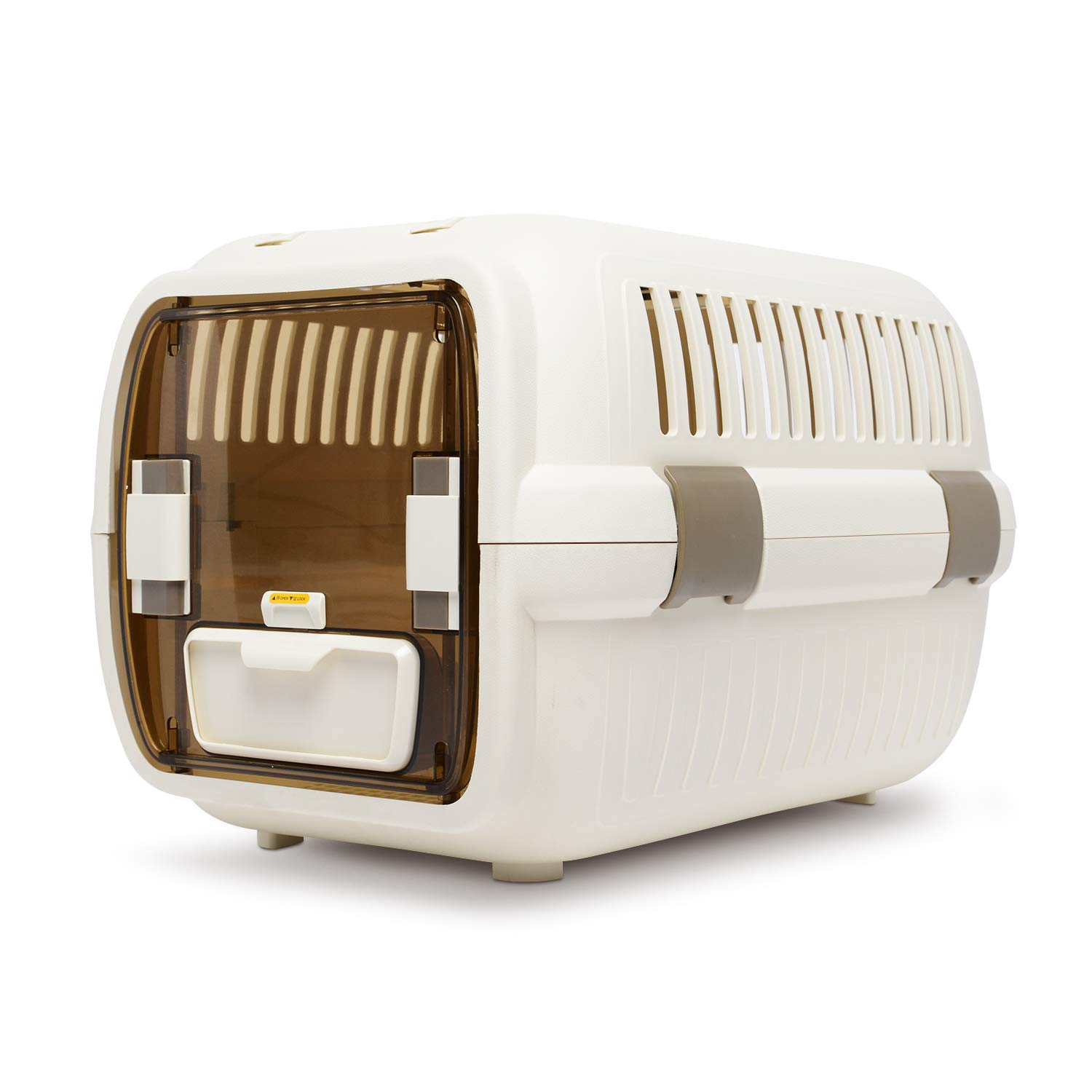 LAZY BUDDY Cat Carrier, Cat Travel Kennel with Food and Water Bowl for Cats, Dogs, and Other Pets. (Large)