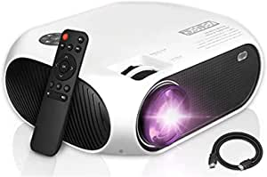 Mini Projector, Zerosky Portable Video Projector 1080P Full HD Display TV Movie LED Projector with HDMI VGA AV USB Ports, Compatible with TV Stick, PS4 - Home Theater Cinema Projectors Choice