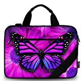 iColor Butterfly Canvas Laptop Carrying Shoulder Sleeve Carrying Case Protective Bag Briefcase for 11.6'' 12'' 12.9'' 13'' 13.3'' inches Laptop Ultrabook Netbook CSH-02