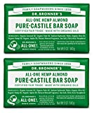 Dr. Bronner's Pure-Castile Bar Soap – Almond, 5oz, 2 pack