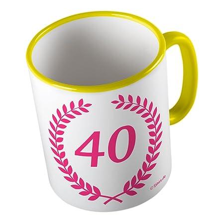 40 Cumpleaños Prunus Corona Rosa ☆ divertido taza - Taza de ...