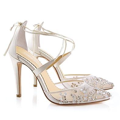 f55cca8df7c Embellished Ivory Crystal Wedding Heel FLR 5