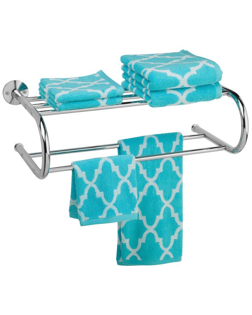 Amazon.com: Honey-Can-Do BTH-05075 Wall Mount Towel Rack with Dual ...
