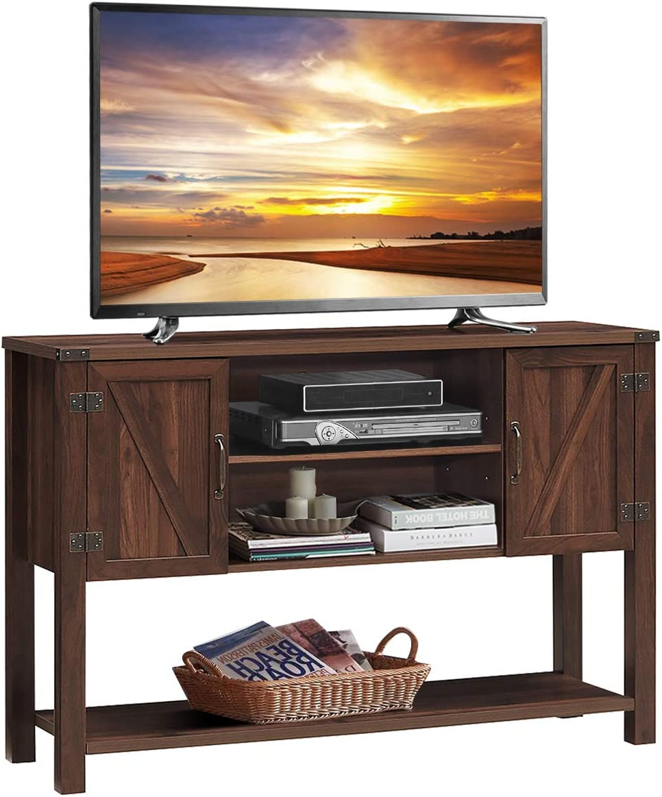 Tangkula TV Stand up to 60 Inches TV