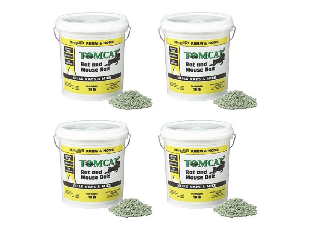 MOTOMCO 008-32345 Tomcat Rat And Mouse Bait Pellet, 10 lb (Pack of 4)