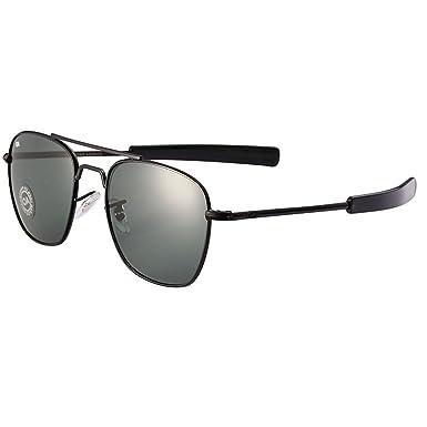 Sunglasses men women American Optical Glass Lenes Alloy Frame Quality  Sunglasses AO8054 Black 6b643a32a4