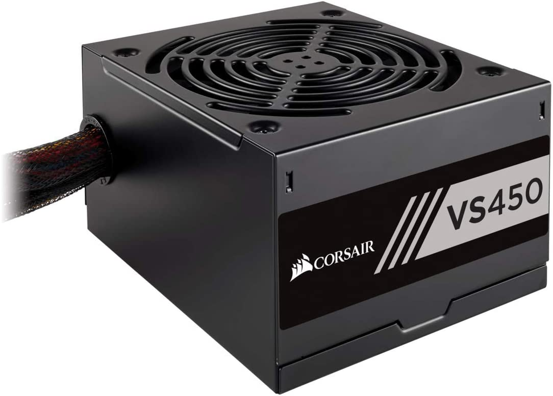 Corsair VS450 - Fuente de alimentación (450 Watts, PFC Activo, 80 Plus) Color Negro CP-9020170-EU