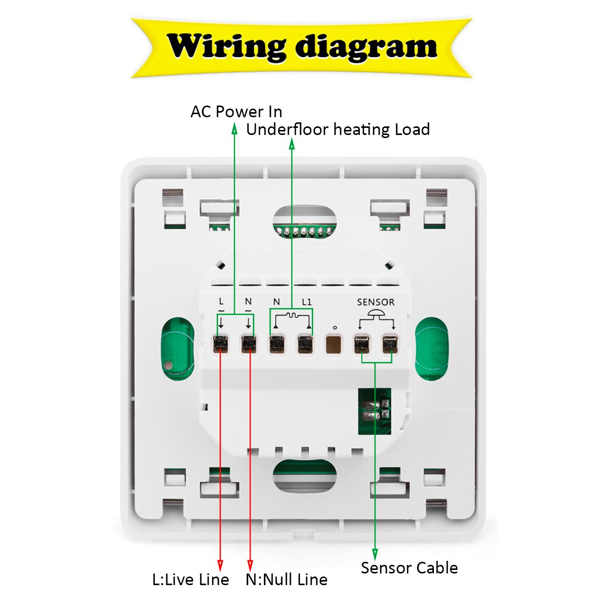 Underfloor Heating Thermostat Wiring Diagram
