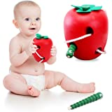 Sealive Educational Toys Children Toys Strings To Wear Rope Toys Caterpillars Eat Apple Puzzle Toy Kongming Lock,Nice Gift For 12 Months Up Baby Kids
