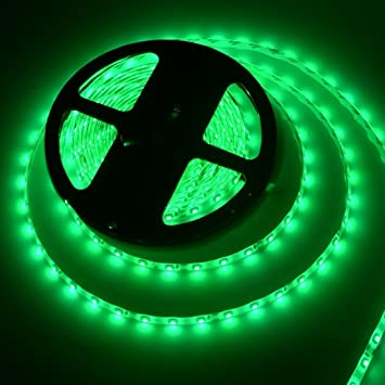 Green Led Light Strips Custom Amazon 6060FT 60M SMD 600600 Waterproof 60LEDs Green LED Strip