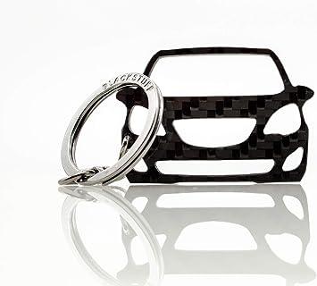 Blackstuff Carbon Karbonfaser Schlüsselanhänger Schlüsselbund Kompatibel Mit Meriva B 2010 2017 Bs 797 Auto