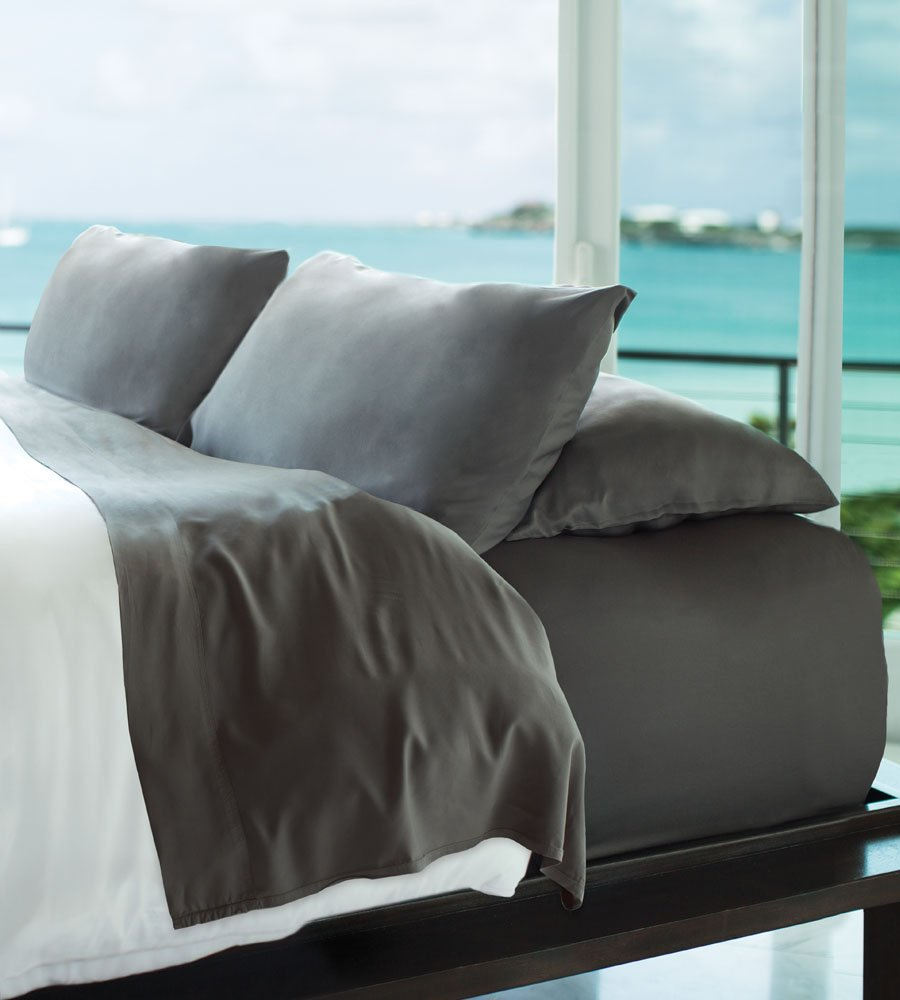 Amazon.com: Cariloha Resort Bamboo Sheets 4 Piece Bed Sheet Set   Luxurious  Sateen Weave   100% Viscose From Bamboo Bedding (Graphite, King): Home U0026  Kitchen