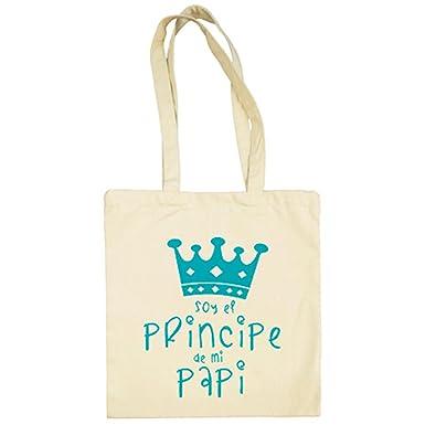 Bolsa de tela Soy el principe de mi papi - Beige, 38 x 42 cm ...