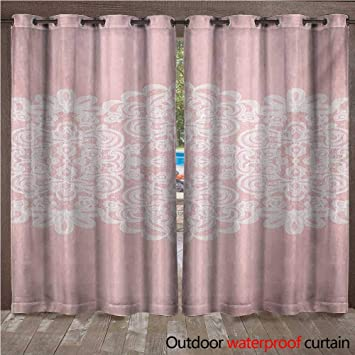 Amazon Williamsdecor Pink And White 0utdoor Curtains For Patio