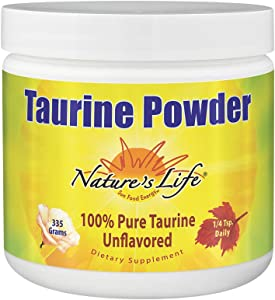 Nature's Life Pure Taurine Powder, Unflavored, 335g, 1000mg/serving