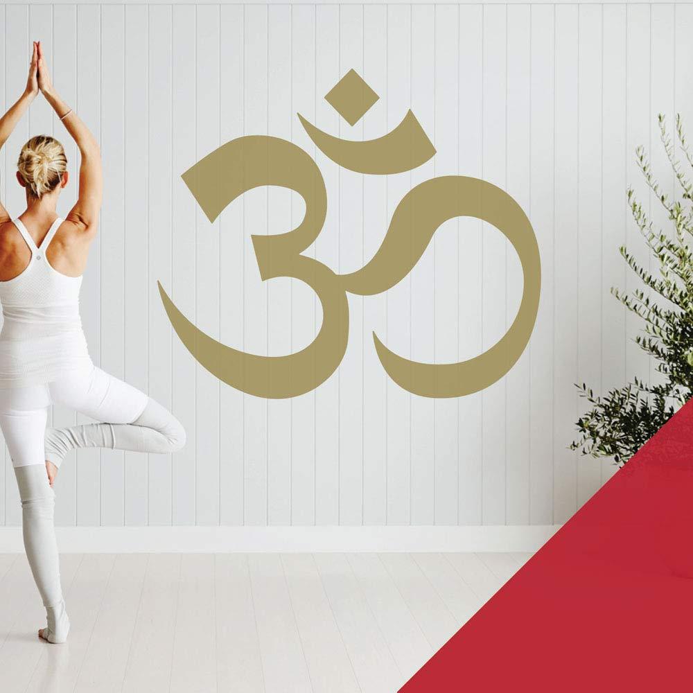 Cherry XLarge (990 x 850mm) Om Symbol  Yoga Meditation  Studio Wall Art Sticker [gold]
