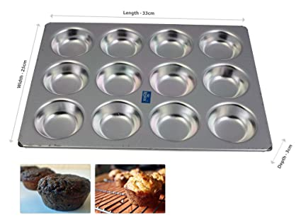 Rolex Aluminium Muffin Bakeware Tray Aluminium Muffin Bakeware Tray 12 cavity
