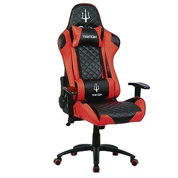 TRITON p050-x3-br Gaming Chair-sedia, Piel sintética, Negro ...