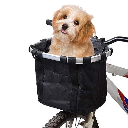 Amazon.com: HAAMIIQII - Cesta para bicicleta para perros ...