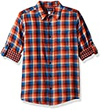The Children's Place Big Boys' Plaid Double-Roll Shirt, Trick Or Treat, XS (4)