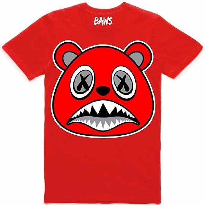 : Baws Angry T Shirt (Red, 2XL): Clothing