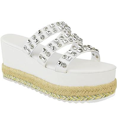 5b9b4051d67fa Fashion Thirsty Sandales à Semelle Plateforme - à Enfiler à Clous - pour  l été - pour Femme  Amazon.fr  Chaussures et Sacs