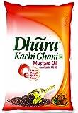 Dhara Kachhi Ghani Mustard Oil Pouch, 1L
